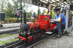 Miniature Steam Train Royalty Free Stock Photos