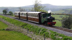 Narrow Gauge Steam Train in England Stock Photo