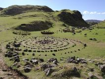Mini Stonehenge. Miniature of Stonehenge in Fairy Glen on the wonderful Isle of Skye stock images