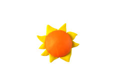 Miniature sun model from japanese clay Stock Image