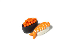 Miniature sushi model from japanese clay Royalty Free Stock Photography