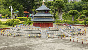 Miniature of temple of heaven at splendid china park, shenzhen, china Stock Image