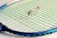 Miniature Tennis Player Stock Photography