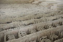 Miniature of the terracotta army Royalty Free Stock Photography