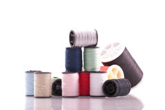 Miniature Thread Spools Royalty Free Stock Image