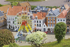 Miniature town scene, Netherlands Royalty Free Stock Images