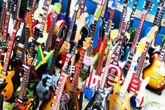Miniature Toy Guitars Royalty Free Stock Images