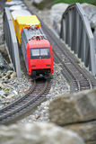 Miniature toy model of modern train Royalty Free Stock Photography