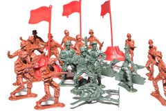 Miniature toy soldiers Royalty Free Stock Images