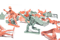 Miniature toy soldiers Stock Photography