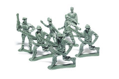 Miniature toy soldiers Royalty Free Stock Image