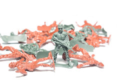 Miniature toy soldiers Royalty Free Stock Photography