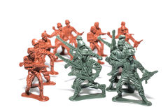 Miniature toy soldiers Stock Images