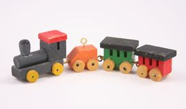 Miniature Toy Train with Locomotive Royalty Free Stock Photography