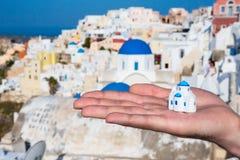 Miniature traditional Greek Church Royalty Free Stock Photo