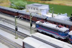 Miniature Train Stock Photo