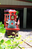 Miniature Train Departure from Station Royalty Free Stock Images