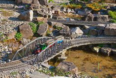 Miniature train model stock image