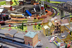 Miniature train model royalty free stock photo
