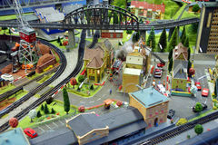 Miniature train model Stock Photos