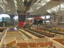 Miniature train station Stock Photo