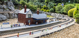 Miniature train station Royalty Free Stock Photo