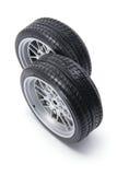 Miniature Tyres Stock Photo