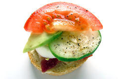 Miniature Vegetable Gourmet Sandwich stock photography