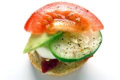 Miniature Vegetable Gourmet Sandwich Stock Photography