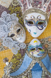 Miniature Venetian carnival masks Royalty Free Stock Image