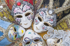 Miniature Venetian carnival masks Stock Photo