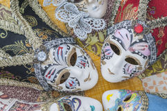 Miniature Venetian carnival masks Stock Photography