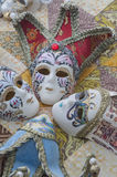 Miniature Venetian carnival masks Royalty Free Stock Images