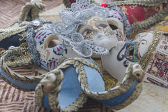 Miniature Venetian carnival masks Stock Images