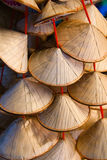 Miniature Vietnamese Straw Hats Royalty Free Stock Images