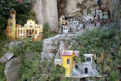 Miniature village of Amalfi, a town in the province of Salerno, in the region of Campania, Italy, on the Gulf of Salerno, 24 miles Royalty Free Stock Photo