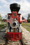 Miniature Vintage Steam Locomotive Royalty Free Stock Photography