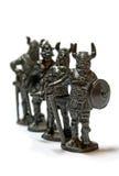 Miniature Warriors. A miniature sculpture of ancient warriors stock images