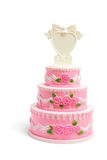 Miniature Wedding Cake Figurine Royalty Free Stock Images
