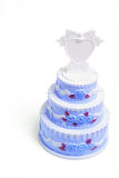 Miniature Wedding Cake Figurine Stock Photography