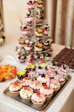 Miniature wedding cakes Royalty Free Stock Photo