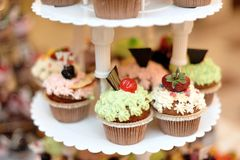Miniature wedding cakes Royalty Free Stock Images