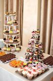 Miniature wedding cakes Royalty Free Stock Photography