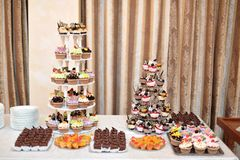 Miniature wedding cakes Stock Image