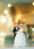 Miniature wedding doll Stock Photos