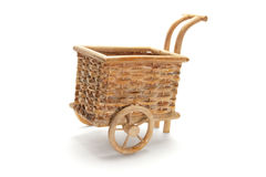 Miniature Wicker Trolley Basket Royalty Free Stock Image