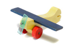Miniature Wood Airplane Royalty Free Stock Photos