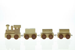 Miniature wood train Royalty Free Stock Image