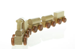Miniature wood train Royalty Free Stock Photos