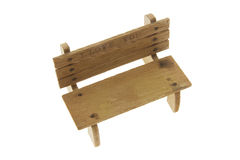 Miniature Wooden Bench Royalty Free Stock Photos